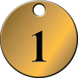 Brass Number Tags - 1-25