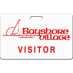 "Horizontal Visitor Badges - 3 3/8"" x 2 1/8"""