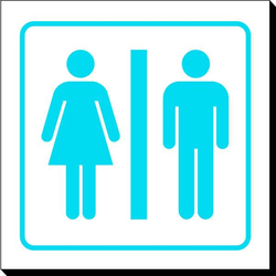Symbol Sign - Washroom